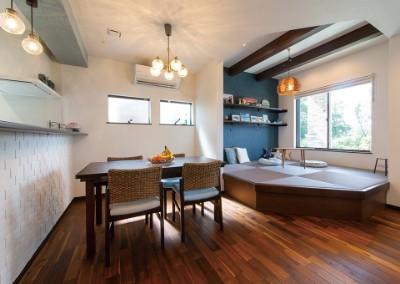 アイ工務店の注文住宅「自然を眺めながら料理を作れるキッチン」