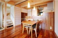 キッチン・ダイニングデザインが目を引く京都の注文住宅4