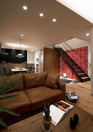 林工務店の注文住宅「壁面の色や柄を変えることでメリハリを」
