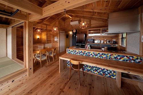 スタジオリンクスの注文住宅「全て杉で作られた木造建築のお家」